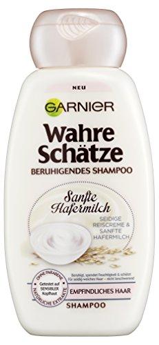 Garnier Wahre Schätze Shampoo/cremige Haarpflege mit sanfter Hafermilch für besonders geschmeidiges Haar, 6er Pack (6 x 250 ml)
