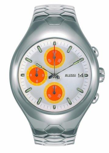 Alessi Nuba AL 11 - Reloj de caballero de cuarzo, correa de acero inoxidable color plata