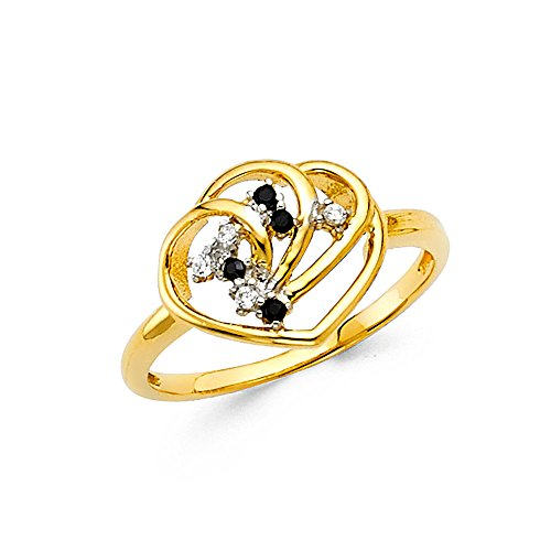 Paradise Jewelers solid gold beautiful women entwined cubic zirconia luxury ring, size 7.5