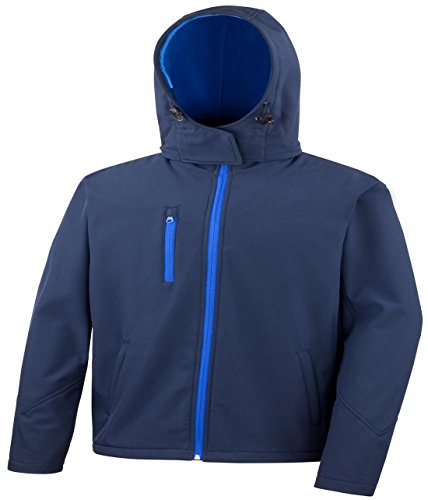 Result Core Herren Warm Coat TX wasserfest Performance Hooded Softshell Jacket Blau - Navy/Royal