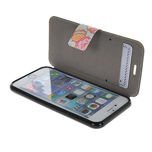 MOONCASE Coque en Cuir Portefeuille Housse de Protection Étui à rabat Case Pour Apple iPhone 6 ( 4.7 inch ) 11