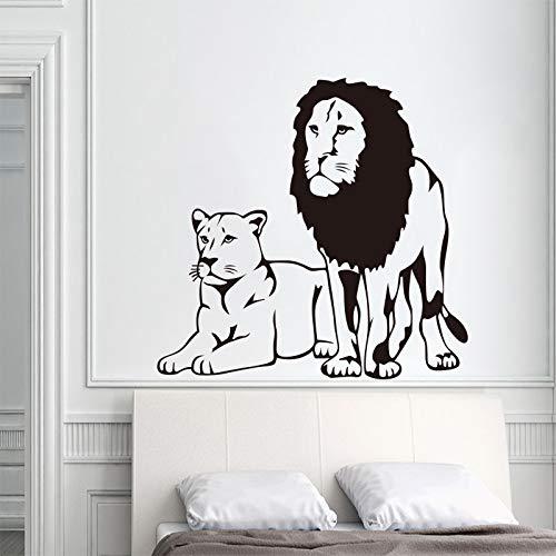 woyaofal Tier Vinyl Wand s Lion Wandtattoo Wandkunst Tapete Wandbild Wohnzimmer Schlafzimmer Dekoration Haus Dekoration 60x65 cm