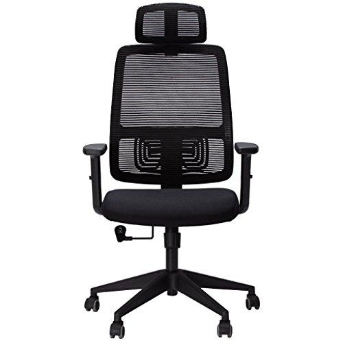 SLYPNOS Chaise de Bureau, Fauteuil de Bureau, Pivotant 360°, Hauteur et Accoudoirs Réglable, SGS Certifié Nylon, Garantie 3 Ans...