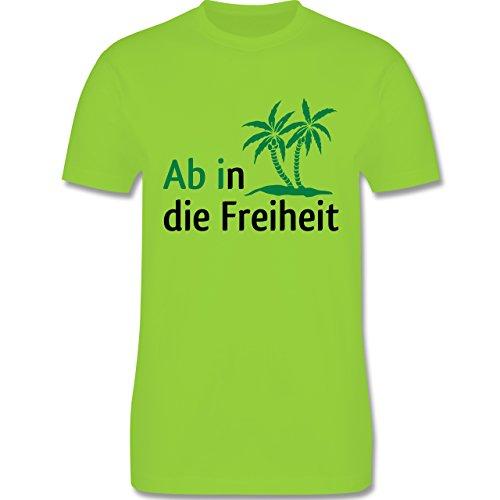 Abi & Abschluss - Ab in die Freiheit - Herren Premium T-Shirt Hellgrün