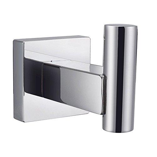 KES Einzelhaken für Bademantel Edelstahl Badezimmer zur Wandmontage Stahl, poliert