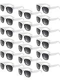 14 Coppie Occhiali da Sole Retrò Festa Plastica Occhiali da Sole con Montatura Spessa per Regalo Divertente Festa Fornitura Giocattoli (Bianco)