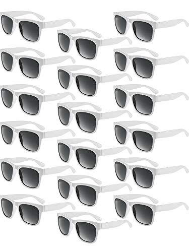 Blulu 14 Para Retro Sonnenbrille Party Kunststoff Dicke Rahmen Sonnenbrille für Spaß Geschenk Party Supply Party Spielzeug Unisex (Weiß) (Spa Party Supplies)