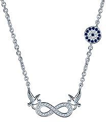 Idea Regalo - Yumi Lok in argento Sterling 925zircone Colomba della Pace infinito simbolo ciondolo ragazza collana con ciondolo