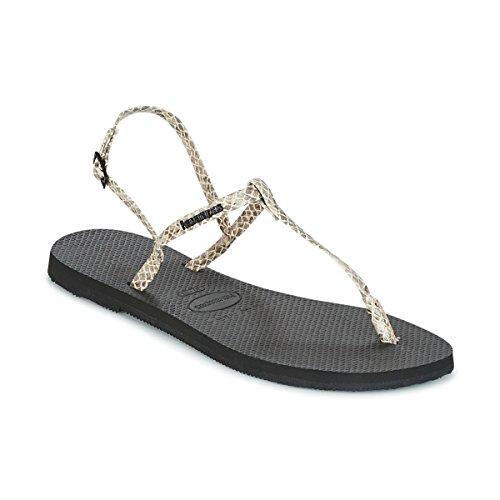 Havaianas You Riviera Crocco Sandalen/Sandaletten Damen Beige - 37/38 - Sandalen/Sandaletten
