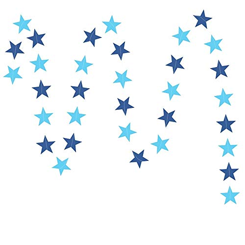 Yanchad Sterne Ziehen Blume, Reflektierende Girlande Funkelnde Sterne Bunting Banner für Hochzeit, Geburtstag, Party, Urlaub Dekorationen Feiertagsdekorationen (Color : Silver, Size : S) (Urlaub Banner)