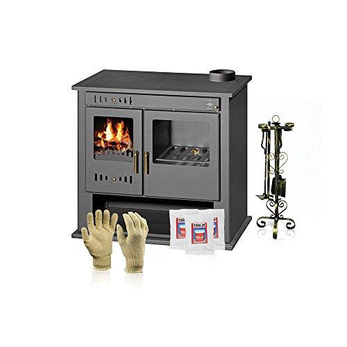 Holz Boiler Herd Victoria 05, Modell VICTORIA B, Heizleistung 15kW, Ofen, Hot Teller + Geschenk Zubehör