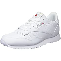 Reebok Classic Leather, Zapatillas de Running Niños, Blanco (White), 36 EU