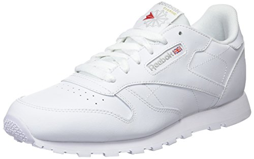 7cf72a56 Reebok Classic Leather, Zapatillas de Running Niños, Blanco (White), 34.5 EU