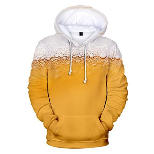 Clacce Oktoberfest Hoodie Sweatshirt Pullover Tops Langarm Für Herren Sweatjacke Herbst Oversize Kapuzenpullover Sweat Shirt (Besten Paare Halloween-kostüme Uk)