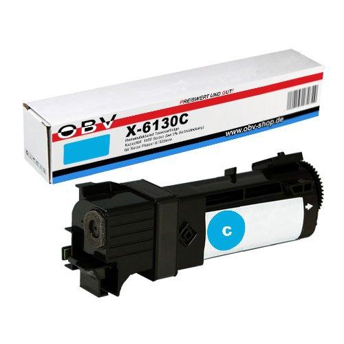 OBV kompatibler Toner cyan (blau) für Xerox Phaser 6130 / 6130N / 6130 N / 6130 V N / Kapazität 1900 Seiten - Phaser 6130 Toner Cyan
