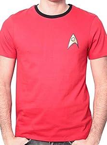 Star Trek Men's Uniforme Round Collar Short Sleeve T-Shirt