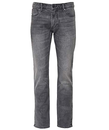 Armani uomo slim fit jeans sbiaditi denim nero 50 regolari