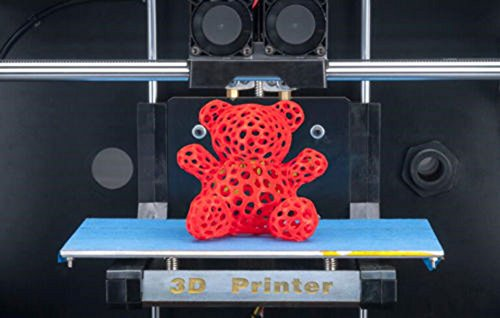 Schwarz 3D Drucker, Dual-Extruder Desktop Rapid Prototyping 3D-Drucker 3D Printer Inklusive 1x 1,75 mm ABS/PLA Filament -