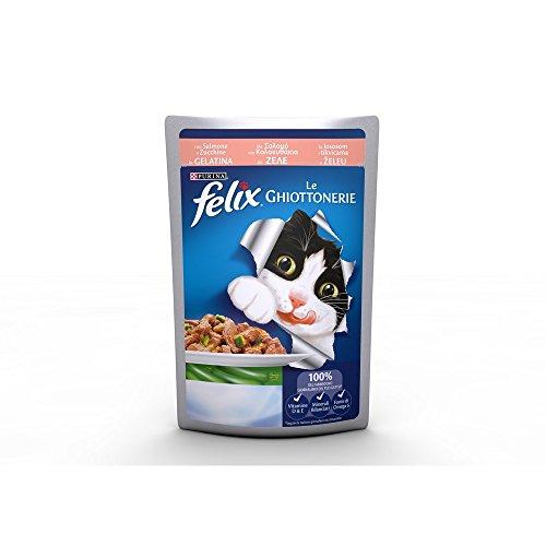 10 bustine felix le ghiottonerie mangime x gatti 100 grammi