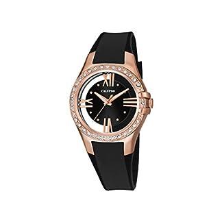 Reloj de Pulsera de Cuarzo K5680/4 de Calypso, con Esfera analógica Negra y Correa de plástico Negra