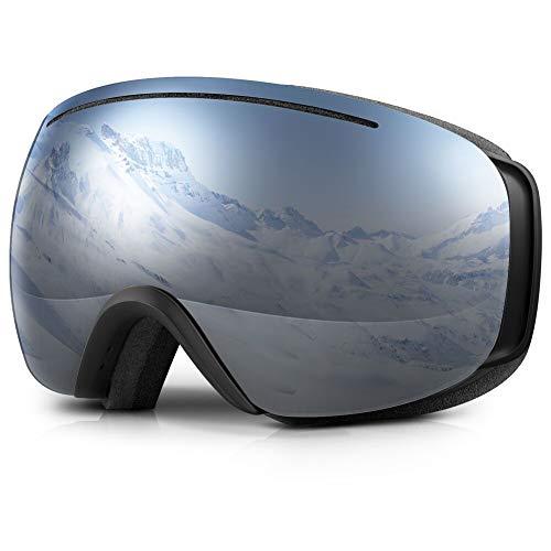 Terra Hiker Masque de Ski Lunettes de Ski Photochromique à Large Vision pour Homme, Femme et Adolescent, Protection 100% Contre UV et Lentille Interchangeable (VLT 18,5%)