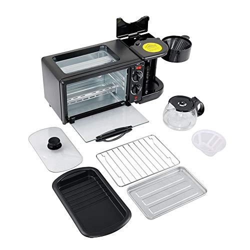 Máquina desayuno tostadora horno café tres uno