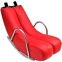YJchairs Lounge-Sessel - Faules Sofa Single Balkon Schlafzimmer Banana Sofa Netter Moderner minimalistischer kreativer Stuhl (Farbe : Red) preisvergleich bei kinderzimmerdekopreise.eu