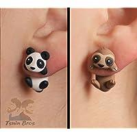 Boucles d'oreilles Ours Panda ou Paresseux.