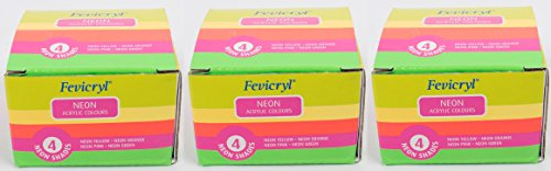 Pidilite Fevicryl Neon Colour Kit(Pack of 3)