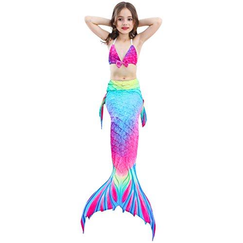 Supmeet™ Badeanzug für Kinder Mädchen Mermaid-Schwanz-Prinzessin Swimwear Bikini Sets Kostüm für das Schwimmen