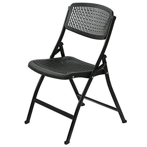 DSHUJC Klappstuhl Stahlrahmen Büro Tisch Stuhl PP Sitz Computer Stuhl Stable Durable Konferenzstuhl 48x57x87cm (Farbe: Rot, Größe: 2 Stück) -