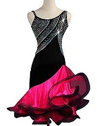 8e05e0cdf Vestido de Baile Latino Sin Mangas para Mujer Vestidos de Competición  Profesional Desgaste Zumba Funcionamiento de