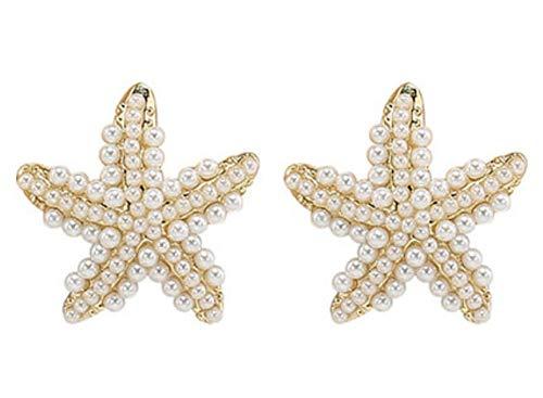 DAGE S925 silver needle, no need to pick up, sea stars, earrings, women, delicate earrings, earrings -
