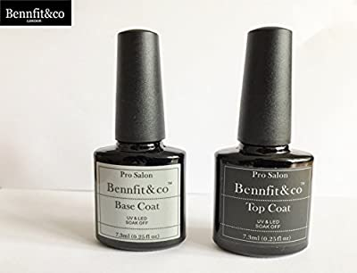 Bennfit &Co soak Off Gel Base & Top Coat - 7.3ml