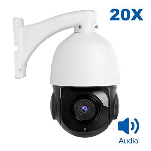 PTZ IP Dome Kamera Aussen, Anpviz Überwachungskamera 5MP POE mit Bewegungserkennung, 20X Zoom Indoor & Outdoor Kamera