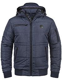 BLEND Boris Herren Winterjacke Jacke mit Stehkragen und abnehmbarer gefütterter Kapuze mit optionalem Teddy-Futter aus hochwertiger Materialqualität