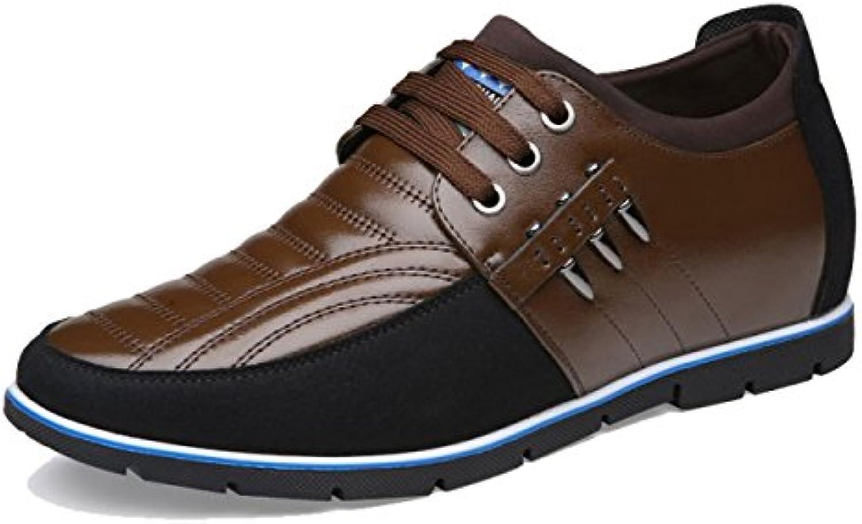 OEMPD Hombres Negocios Desenfadado Zapatos Encaje Cuero Genuino Transpirable Zapatos -