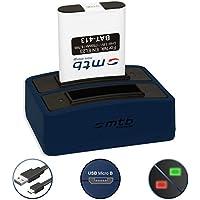 Batería + Cargador doble (USB) para EN-EL23 | Nikon Coolpix B700, P600, P610, P900, S810c - contiene cable micro USB