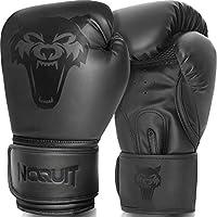 NOQUIT Premium Boxhandschuhe für Männer & Frauen - MMA Handschuhe aus Kunst Leder - Box Handschuh mit Tragetasche - Kampfsport Boxing Gloves für Erwachsene & Kinder in 8/10 / 12/14 / 16 OZ