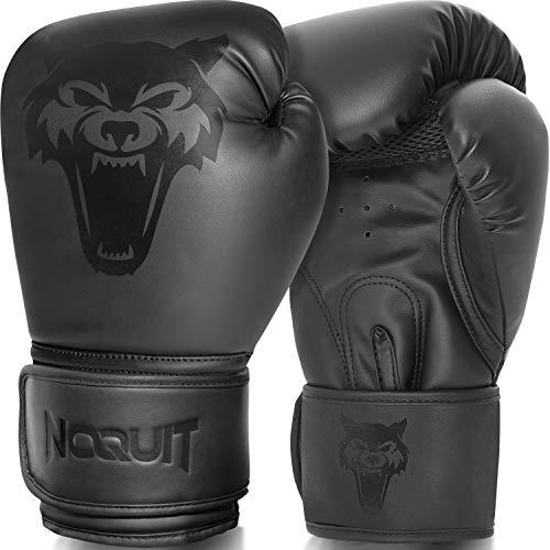 NOQUIT Premium Boxhandschuhe für Männer & Frauen - MMA Handschuhe aus Kunst Leder - Box Handschuh mit Tragetasche - Kampfsport Boxing Gloves für Erwachsene & Kinder in 10 OZ