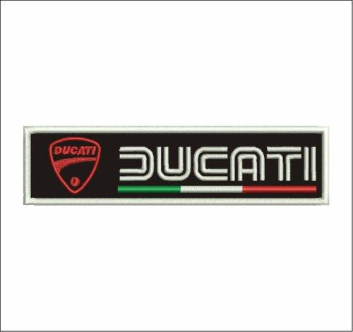 Patch Ducati Corse Motorrad Scudetto Bandera cm 15x 4Aufnäher Stickerei Replica V8A -769 (Ducati Corse Patch)
