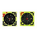 Nrkin 20 Pezzi da 8 Pollici da 12 Pollici di addestramento alla Caccia Bersaglio Carta marmellata Fluorescente Auto-Adesivo tiro Pistola Carta Bersaglio