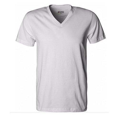 Jockey Herren American V-Neck T-Shirt USA Originals 2er Pack, Größe:M;Farbe:White (100)