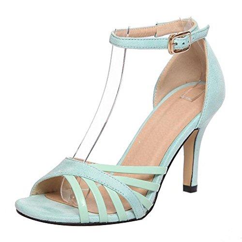 Soiree Sangle Aiguille Peep Vert Femmes De Mode TAOFFEN Cheville Toe Sandales Chaussures Ypwqzq