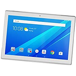 "Lenovo TAB4 10 - Tablet de 10.1"" (WiFi, Bluetooth 4.0, Qualcomm Snapdragon 425, 2 GB de RAM, 16 GB de eMCP, Qualcomm Adreno 308 GPU, Android 7.1.1), teclado QWERTY Español, Blanco"