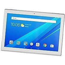 """Lenovo TAB4 10 - Tablet de 10.1"""" (WiFi, Bluetooth 4.0, Qualcomm Snapdragon 425, 2 GB de RAM, 16 GB de eMCP, Qualcomm Adreno 308 GPU, Android 7.1.1), teclado QWERTY Español, Blanco"""