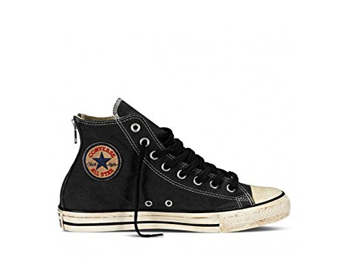 Converse Chuck Taylor All Star Homme Vintage Washed Back Zip Twill Hi, Sneaker Unisex – Adulto Nero (Black)