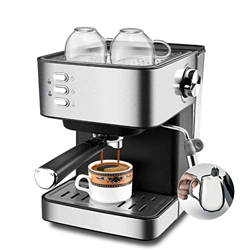SHUHAO Halbautomatische Kaffee Maschine Edelstahl Espresso Maker Voll Funktionale Hause Display Volle Temperatur Control