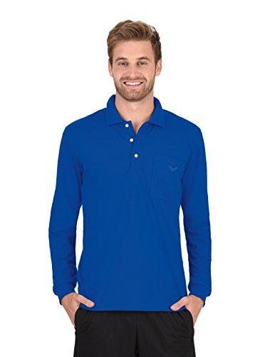 Trigema Herren Top Langarm Poloshirt Blau (royal 049)