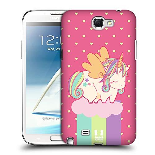 Head Case Designs Primavera Teneri Unicorni Un Pò Cicciotti Collezione Cover Dura per Parte Posteriore Compatibile con Samsung Galaxy Note 2 II N7100